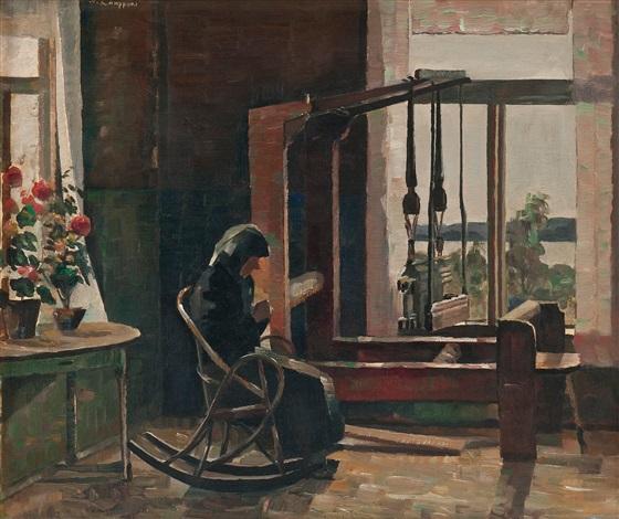 by the window by väinö kamppuri