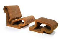 chair and ottoman (set of 2) by frank gehry