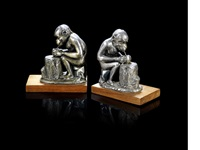 monkey bookends (pair) by benjamin rabier
