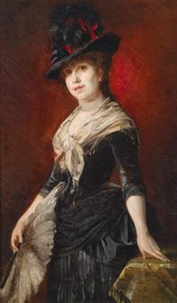 portrait einer jungen dame by leo reiffenstein