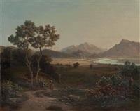 ansicht von salzburg von maria plain aus gesehen by m. lenz