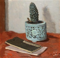 still life with cactus by marie van regteren altena