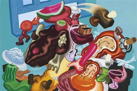 still life with soft watches by peter saul