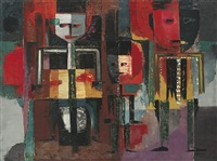 three figures by abas alibasyah