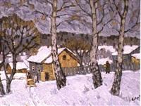 l'attelage dans la neige by vladimir bobrov