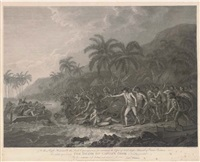 the death of captain cook (by f. bartolozzi and w.w. byrne) by john webber