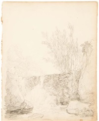 petite cascade by hubert robert