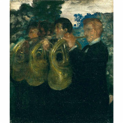 the horn players by arthur bowen davies