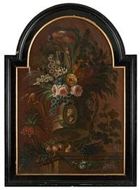 composition florale sur entablement by flemish school (19)
