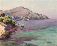 la rade de saint-cyr-sur-mer by antoine ponchin