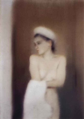 kl badende small bather by gerhard richter