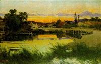 paisaje con puente by herbert gandy
