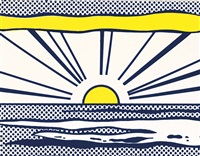 sunrise (from seven objects in a box) by roy lichtenstein
