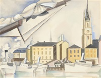 le port de stockholm by andré lhote