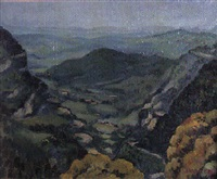 paisaje en el pirineo by concha ibanez