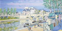 paris, les bouquinistes du pont-neuf by pierre godet