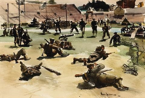 army in action kezar stadium san francisco by barse miller
