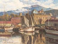 victoria dock, hobart by leila constance mcnamara