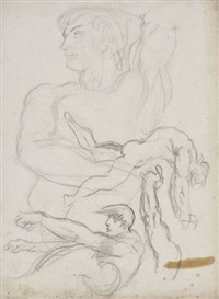 figures masculines (study) by gustave moreau