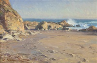 ocean study - california, cambria by clyde aspevig