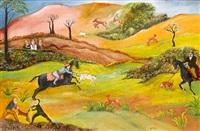 hunting scene by tassaduq sohail
