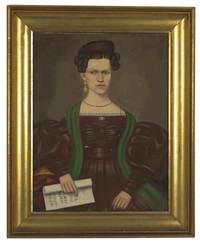 portrait of mrs. paul smith palmer by erastus salisbury field