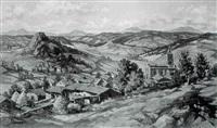 paysage de haute-loire by gabriel moiselet