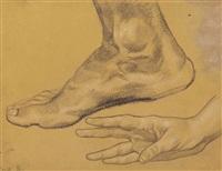füße und hand (2 works) by wilhelm dachauer