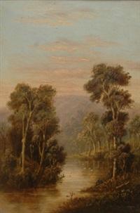 mount juliet from the watts river healesville by william short sr.