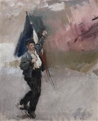 manifestant (study) by alfred roll