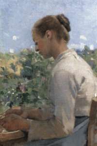 shelling peas by alfred g. webster