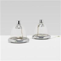 lessa table lamps (pair) by luciano bartolini, mariolina ubertazzo, and alberto mazzocchi