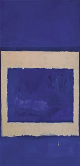 cool series no. 3, white over blue by perle fine