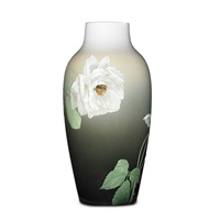iris vase with roses by albert r. valentien