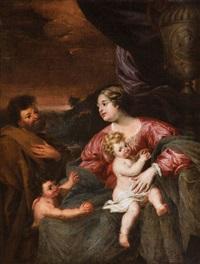 sainte famille et saint jean enfant by jan van den hoecke