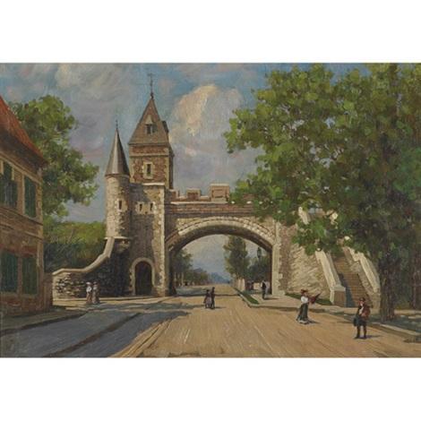 La porte st louis quebec by charles macdonald manly on artnet for Porte st louis