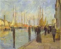 niederländische promenade by hermann goebel
