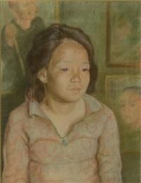 portrait de jeune femme by luong xuan nhi