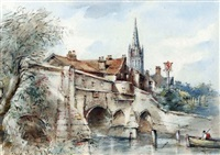 bishop bridge, norwich by arthur edward davies
