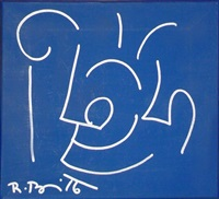 untitled (from the blue series) by romero britto