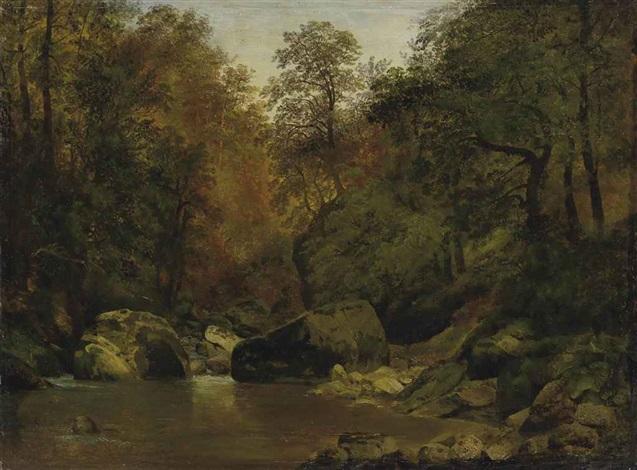 bachlandschaft by alexandre calame
