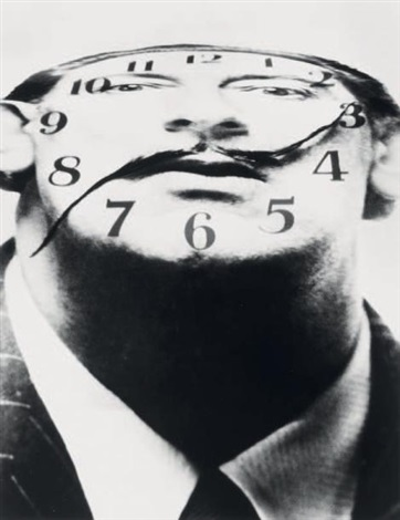 salvador dali la montre by philippe halsman