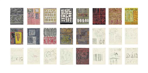 textile design sketchbook 1 24 works by henry moore
