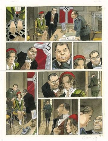 Ex-libris Offset Le Vol du Corbeau signée par Jean-Pierre