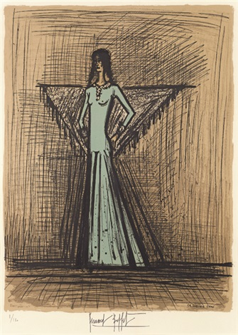 高傲女士 haughty lady by bernard buffet