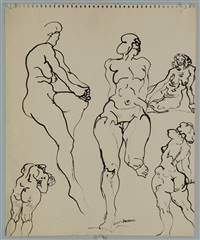 untitled (multiple nudes) by joseph delaney