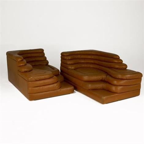 Terrazza Sofas Pair By Ubald Klug On Artnet