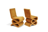 wiggle chairs (set of 2) by frank gehry