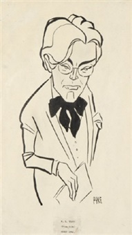 w.b. yeats (charicature from life abbey) by r.s. pike