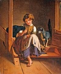 kislány kutyával és cicával by johann-joseph geisser